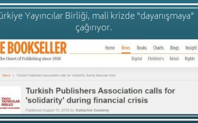 """Türkiye Yayıncılar Birliği, mali krizde """"dayanışmaya"""" çağırıyor."""
