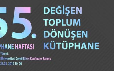 55. Kütüphane Haftası 25 -31 Mart Tarihleri Arasında Kutlanacak