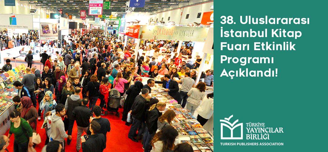 38. Uluslararası İstanbul Kitap Fuarı Etkinlik Programı Açıklandı!